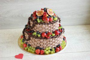 торт фруктовый фонтан на заказ в Самаре