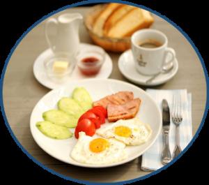 специальное предложение на завтраки в кафе