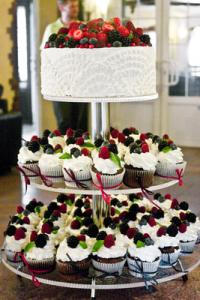 торт свадебный фонтан на заказ в Самаре