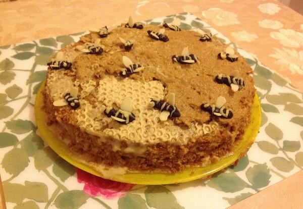 Торт пчелка рецепт с фото пошагово в домашних условиях 992